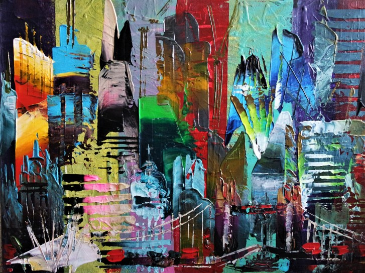 New York Abstract 708