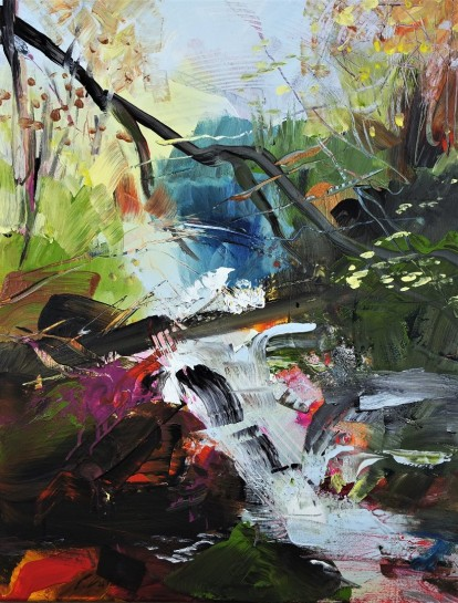 Abstract Landscape Waterfall 200