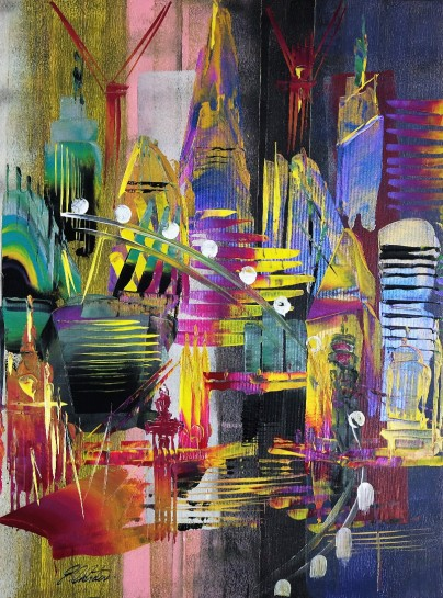 London Cityscape Abstract 662