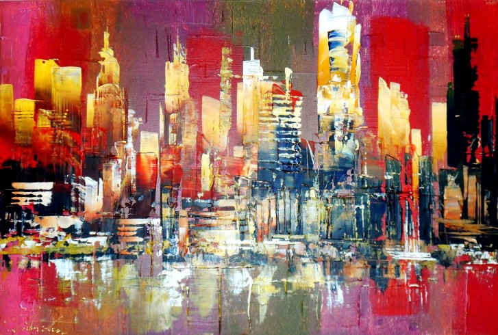 Mega City New York Abstract 4989