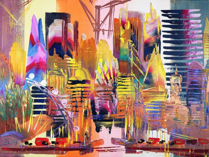 London Cityscape Abstract 637