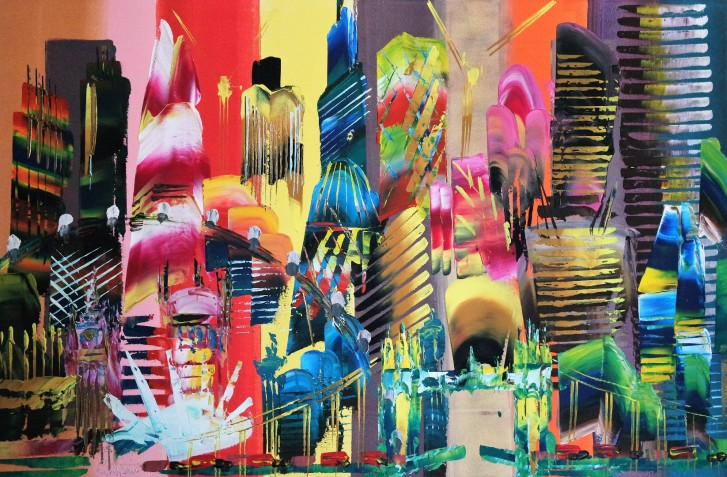 City of London Abstract Painting 2014