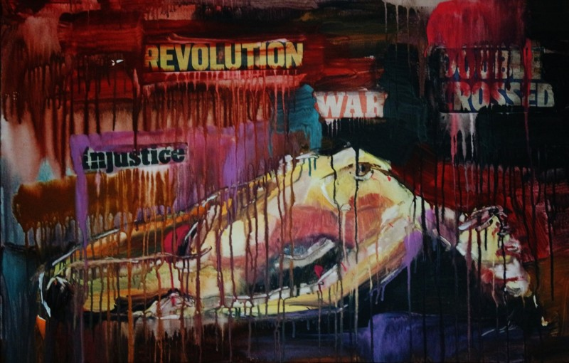 Nude Revolution injustice war doubble crossed Abstract Expresstion 0430