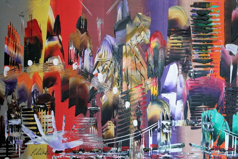 City of London Abstract Painting 2028