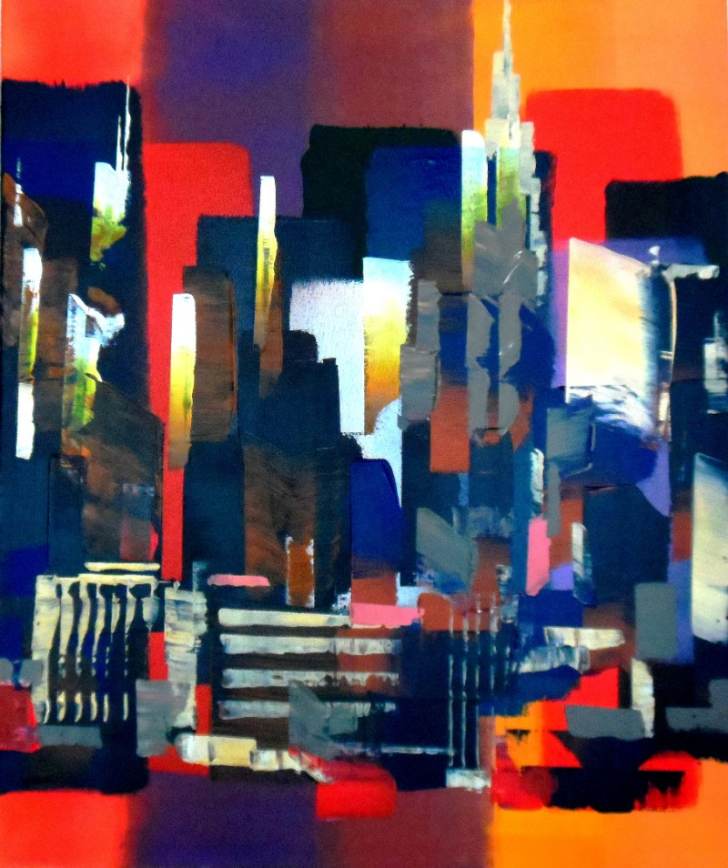 Manhattan New York Abstract 367