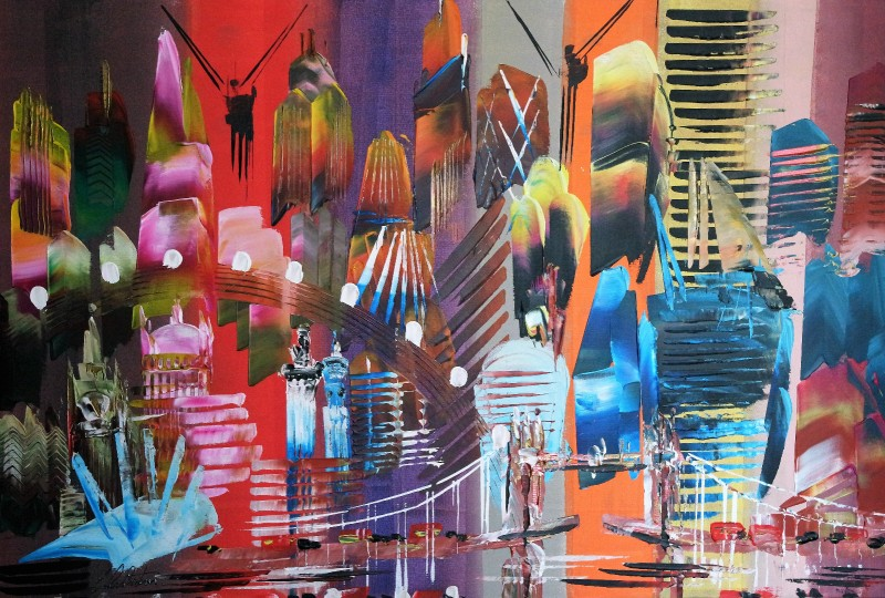 City of London Abstract Painting 2023