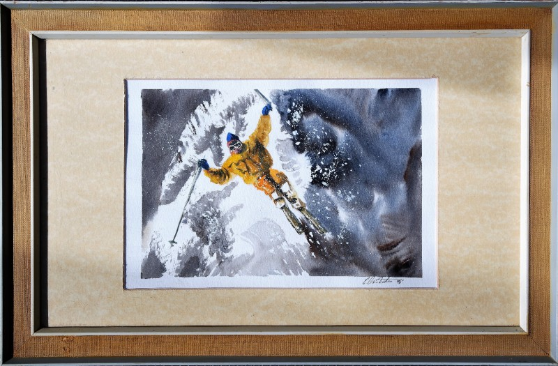 Ski watercolour