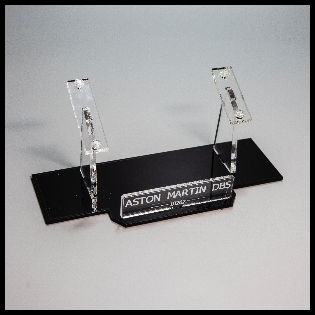 Acrylic Display Stand For The Aston Martin DB5 LEGO Model