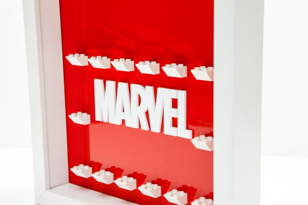 3D Marvel minifigure display