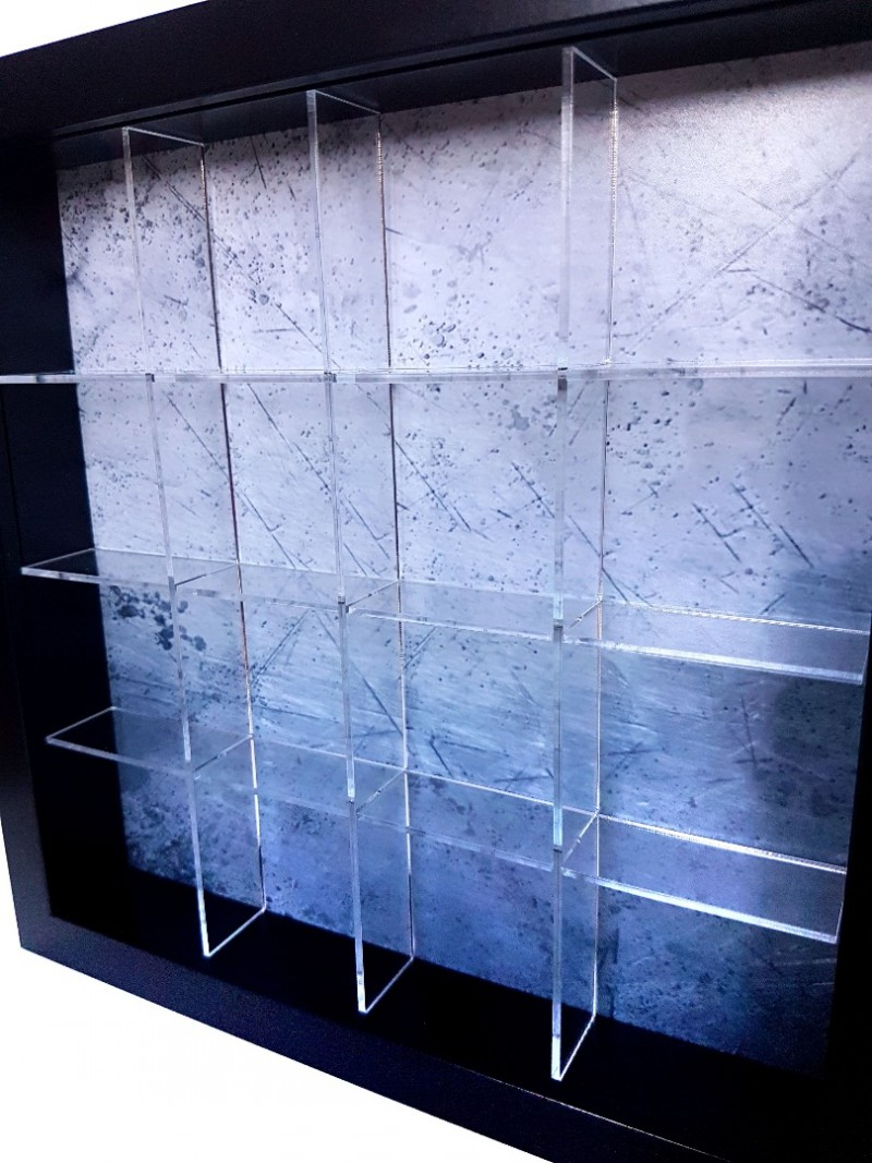 acrylic box shelf system for ikea ribba frames 23x23cm. Black Bedroom Furniture Sets. Home Design Ideas