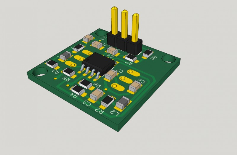 ISO render of the Pressure Sensor Breakout board