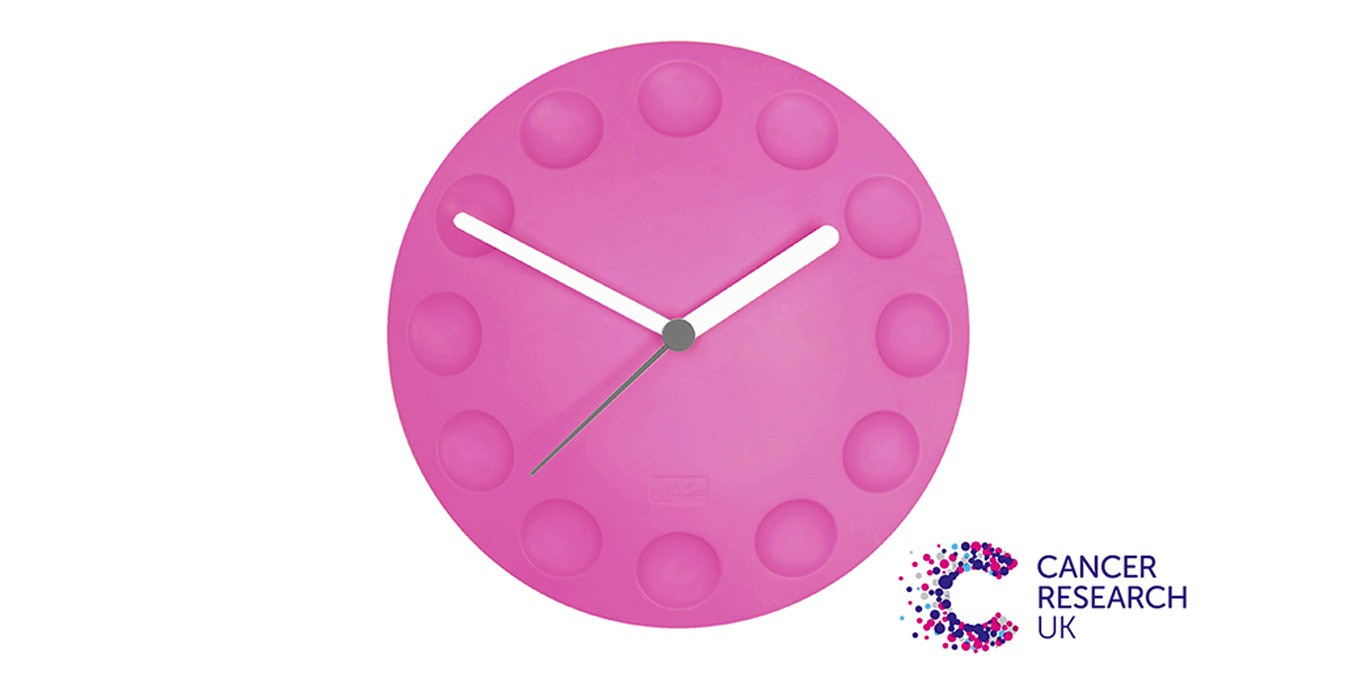 fridge clock - pink