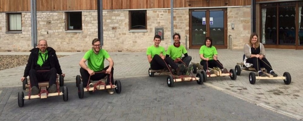 Go Karts for Team Building - Muddy Knees wooden go kart kits
