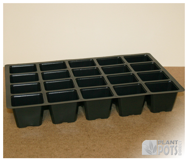 seed tray insert 20 or vacapot 20 plastic plant pots. Black Bedroom Furniture Sets. Home Design Ideas