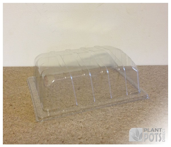 Propagator lid for half seed tray