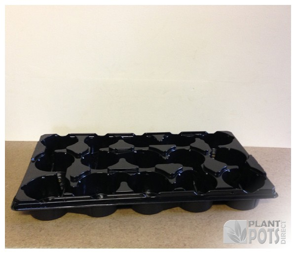 10.5cm Round plant pot plastic carry tray - Holds 15 pots