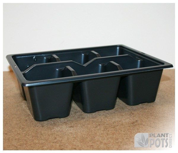 6x Cell pack plastic plant tray