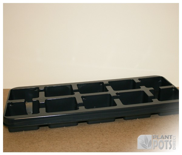 11cm Square plant pot plastic carry tray