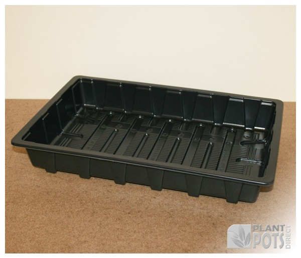 Heavyweight full plastic seed tray with no holes