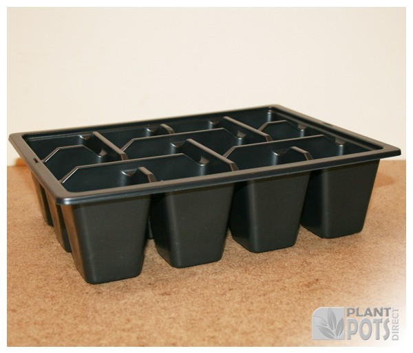 12x Cell pack plastic plant tray