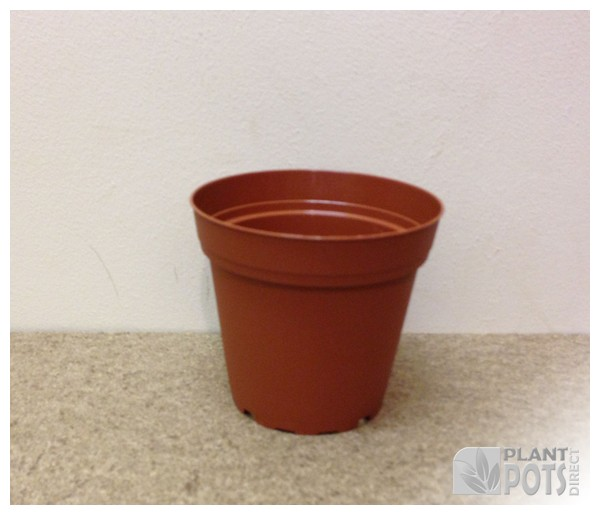 10cm Round injection moulded rigid plastic plant pot (4 inch round)