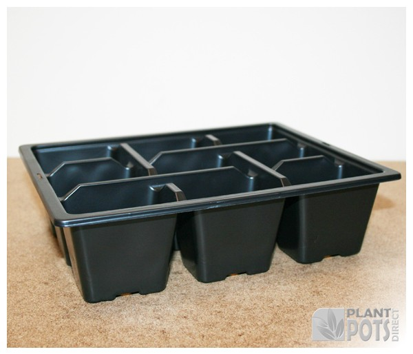 9x Cell pack plastic plant tray