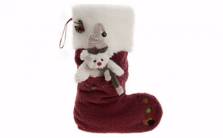 Charlie Bear Red Berry Stocking