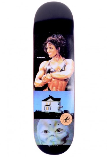 QUASI SKATEBOARDS - Johnson 'Curiosities' - BLACK - 8.375''