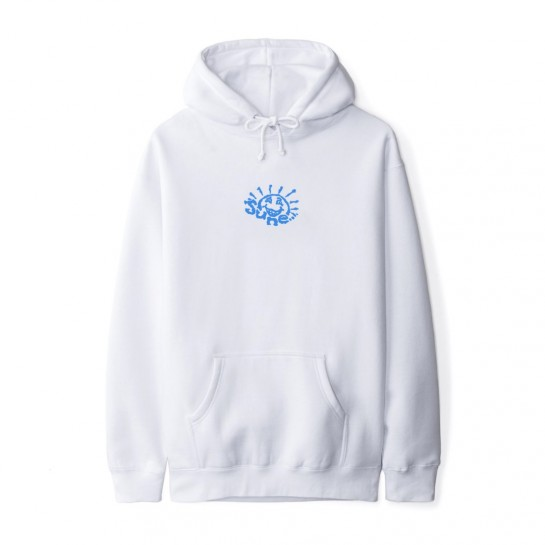 JUNE STORE - SUN DUDE HOOD - WHITE / BLUE