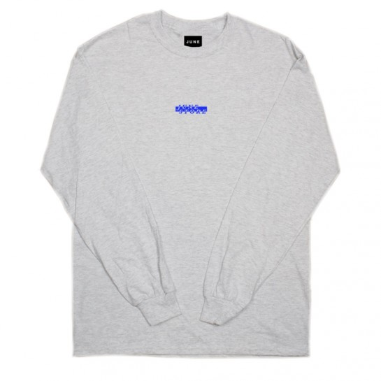 JUNE STORE - BOX CUTTER L/S TEE - GREY HEATHER