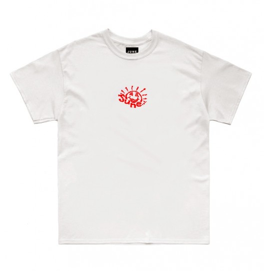 JUNE STORE - SUN E DUDE TEE - WHITE / RED