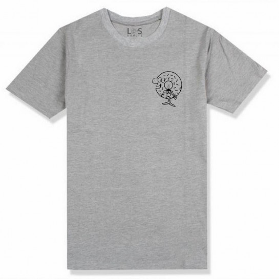 LOS DONUTS - HEY MAN TEE - GREY / BLACK