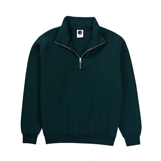 POLAR - ZIP NECK SWEAT SHIRT - DARK TEAL