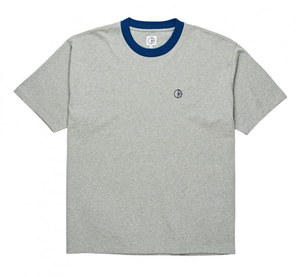 POLAR SKATE CO - Ringer Tee - Heather grey / Navy
