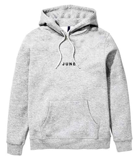 JUNE STORE - PULLOVER HOOD - GREY / BLACK