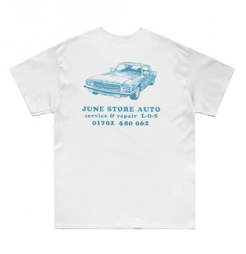 JUNE STORE - AUTO REPAIRS - WHITE / BLUE