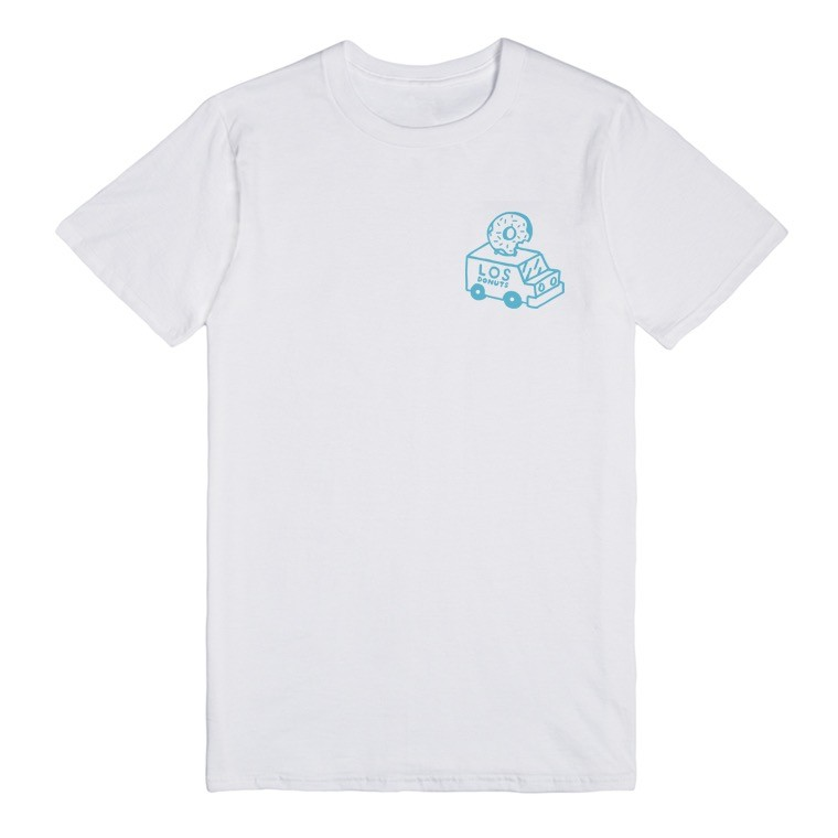 LOSDONUTS - TRUCK TEE - BLUE / WHITE FRONT