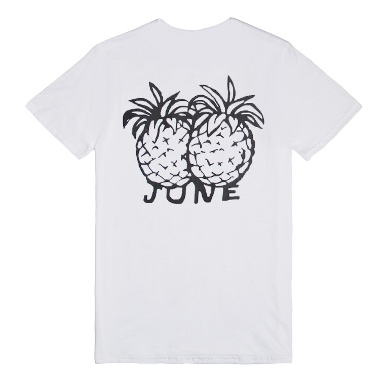JUNE STORE PINEAPPLES TEE WHITE