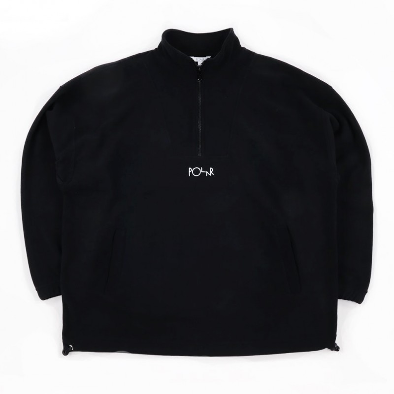 POLAR SKATE CO - LIGHTWEIGHT PULLOVER FLEECE - BLACK