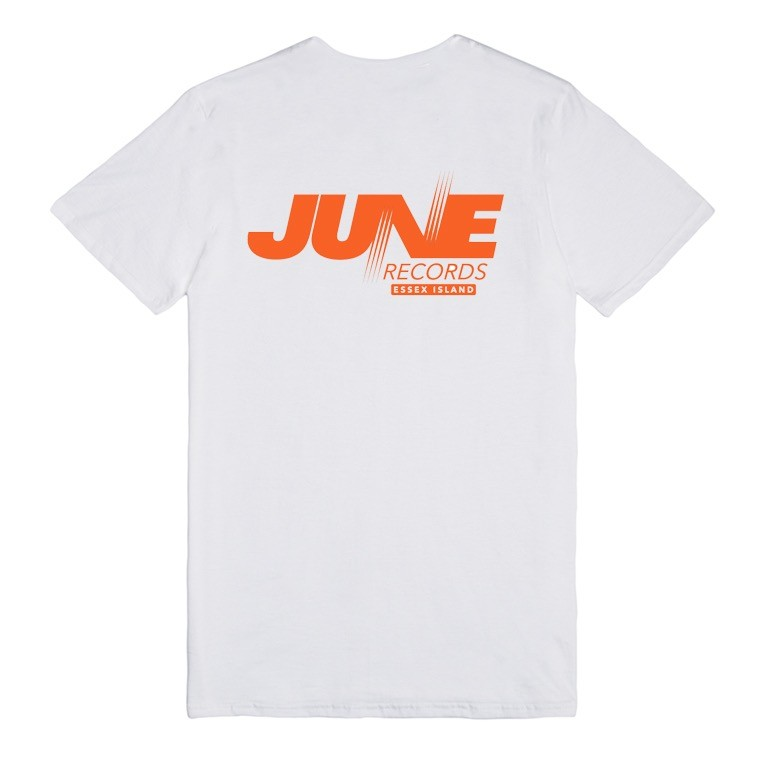 JUNE - RECORDS TEE - WHITE / BURNT ORANGE