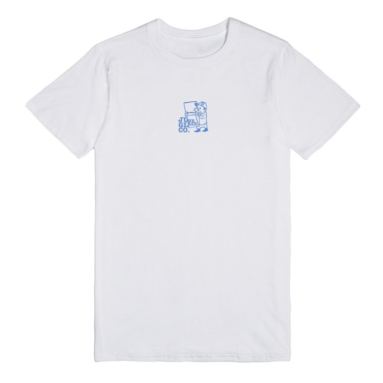 JUNE STORE - GLAZE GUY TEE - WHITE / BLUE