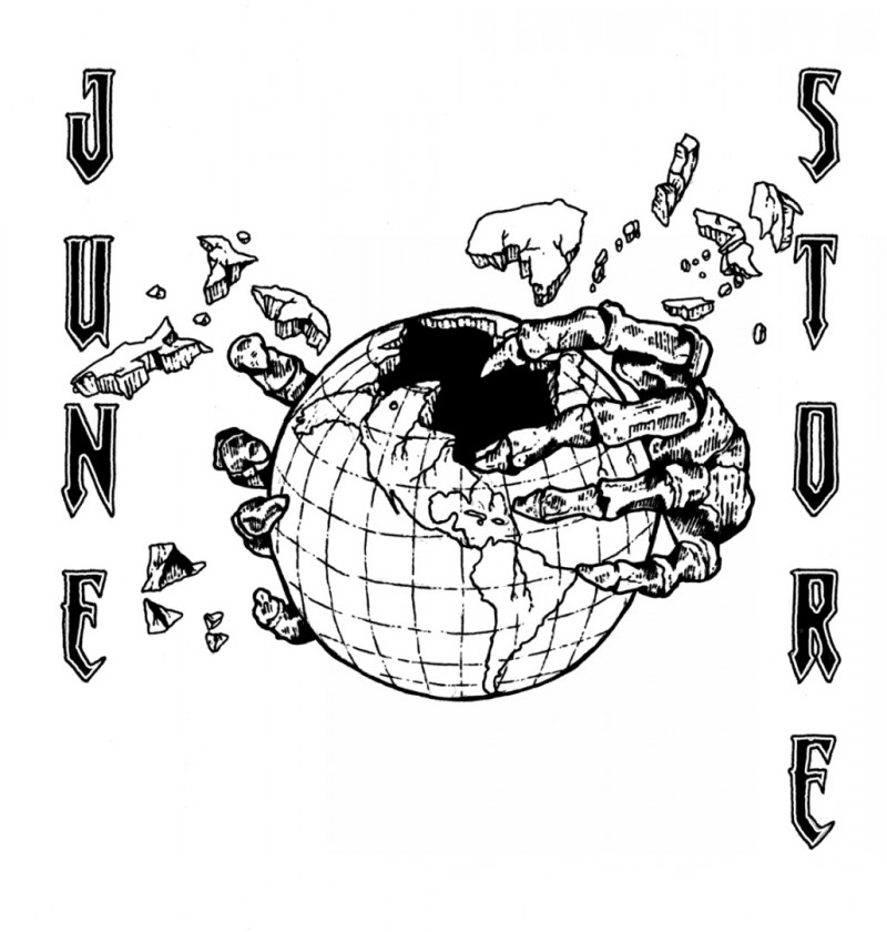 JUNESTORE, T-SHIRT, HOLLOW EARTH, FUNERAL FRENCH, TEE