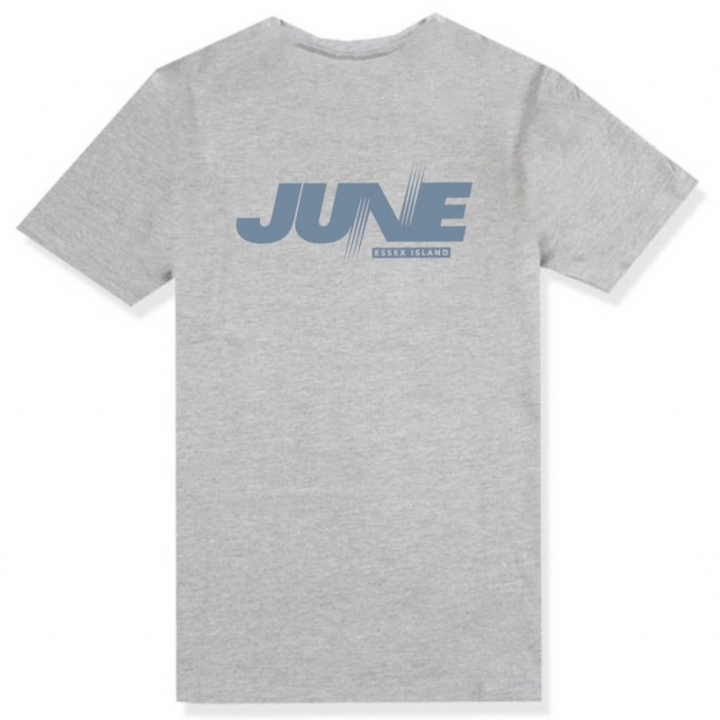 JUNE STORE - RECORDS TEE - BLUE / GREY