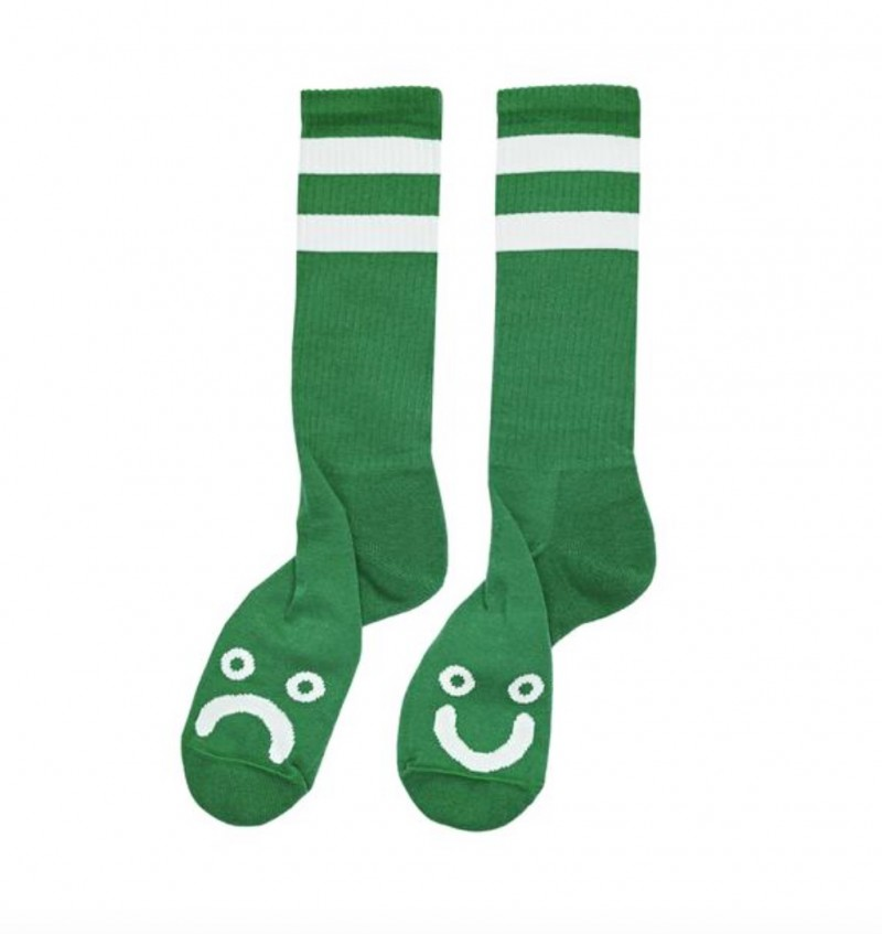 POLAR SKATE CO - Happy Sad Socks - Green