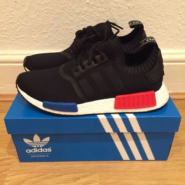 ae5a2ddfb00 ADIDAS ULTRA BOOST NMD S RED WHITE BLUE BLACK - LuxuryShoewear