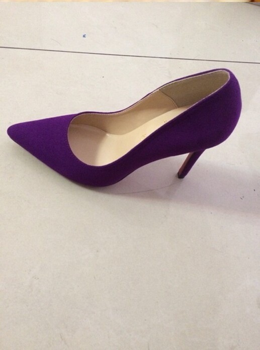 new product 4333d 01683 PURPLE SUEDE LOUBOUTIN SO KATE HEELS