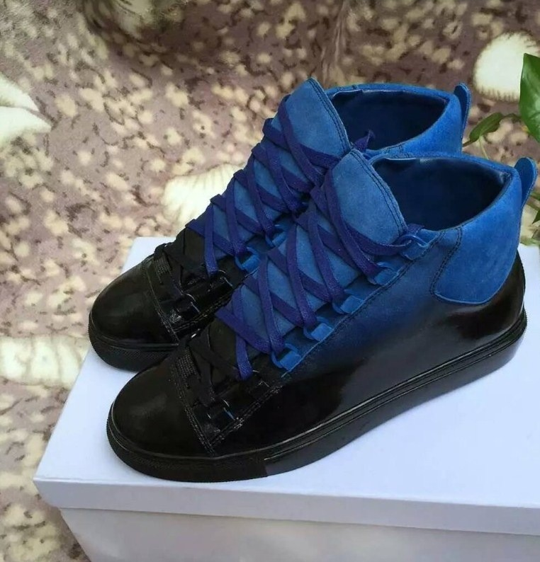 DARK BLUE BLUE BALENCIAGA ARENA HIGH TOPS. £375.00. Tap image to zoom fcf526d118dd