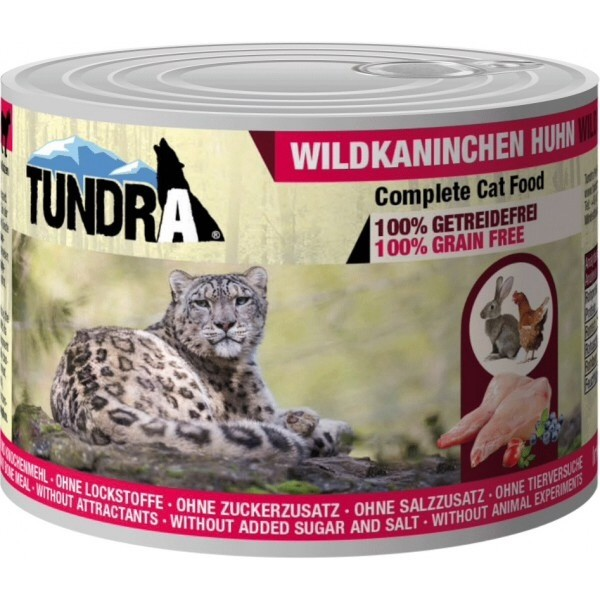 Tundra, cat food, chicken and rabbit
