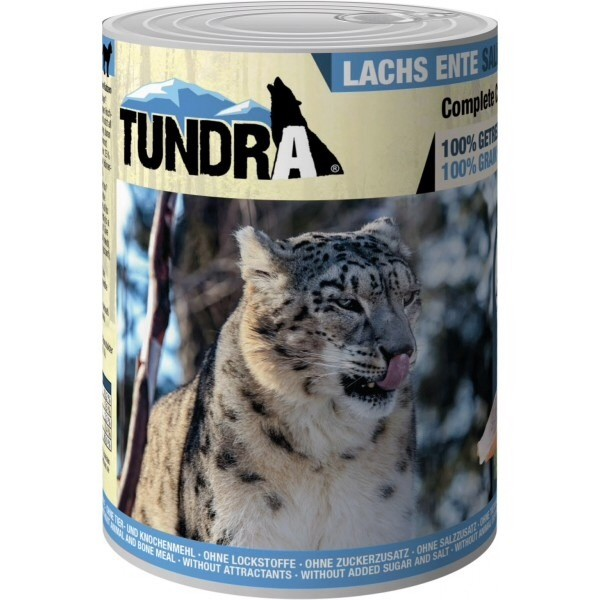 Tundra, cat food, salmon and duck