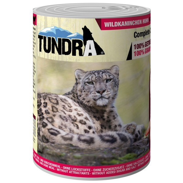 Tundra, cat food, wild rabbit and chicken